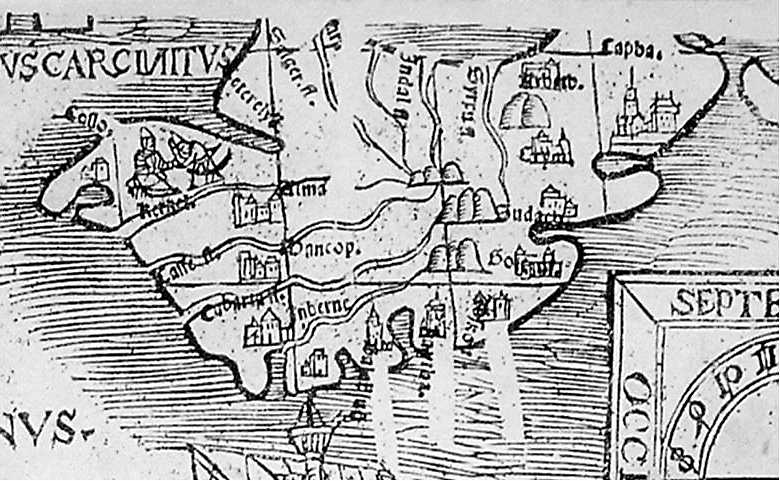 The Crimea on the Map of South Sarmatia by Bernard Wapowski