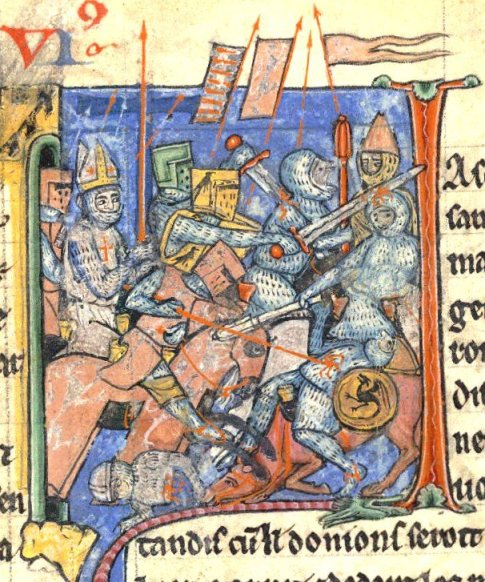 The Holy Lance held by Adhémar du Puy before Antioch