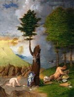 Lorenzo Lotto - Allegory of Vice and Virtue (1505)