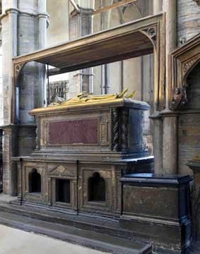 The tomb of Henry III, Westminster Abbey, from the chapel of St
