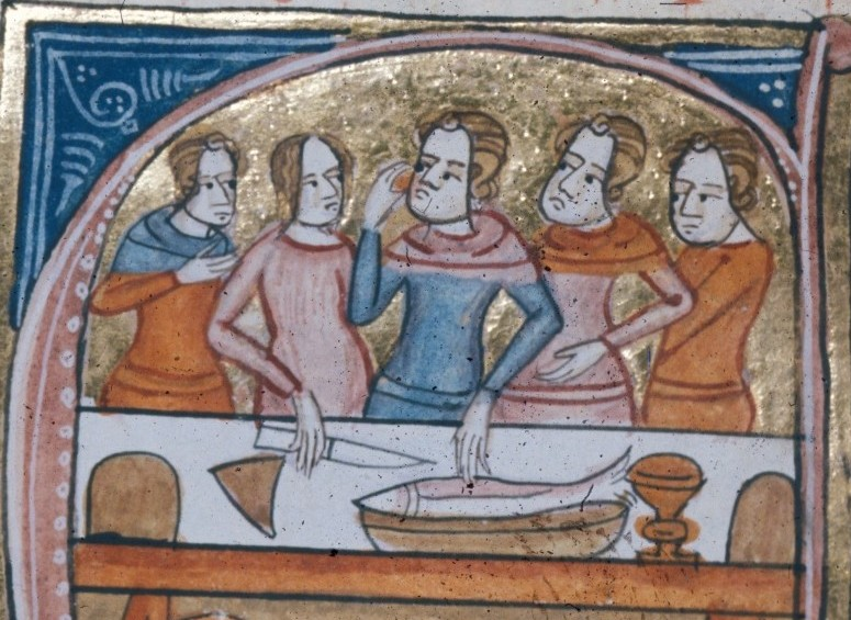 Preparing medieval food