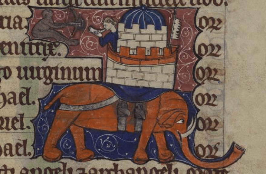 elephants in the middle ages