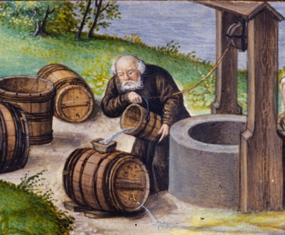drinking water middle ages
