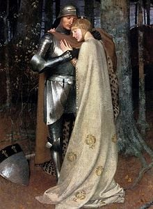Aucassin and Nicolette, 19th-century oil-on-canvas by Marianne Stokes