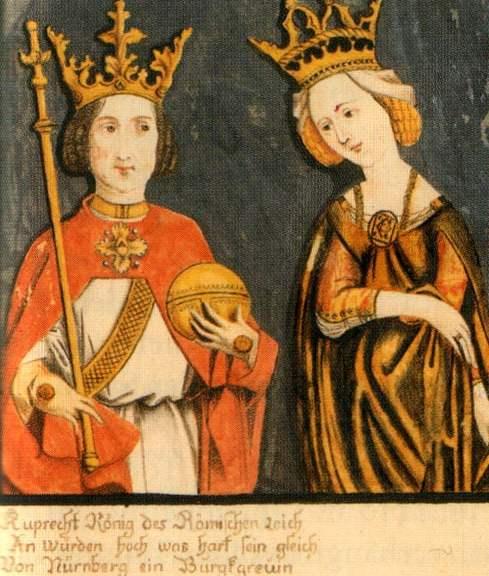 Rupert King of Germany with his wife Elizabeth of Nuremberg