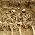 Medieval couple holding hands for 700 years