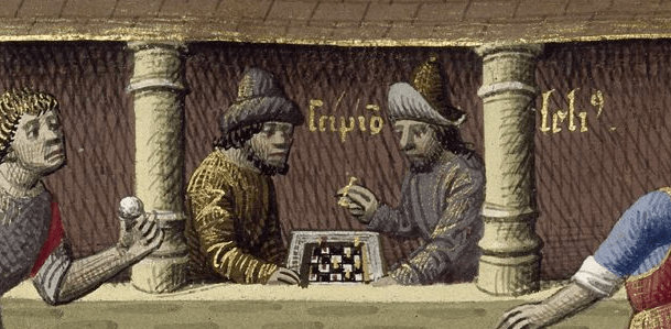 medieval chess players