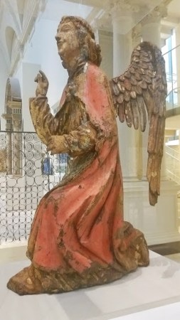 15th c. rare wooden sculpture of the Angel Gabriel