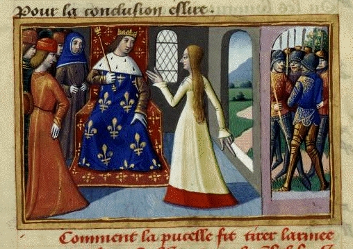 Charles VII meets Joan of Arc