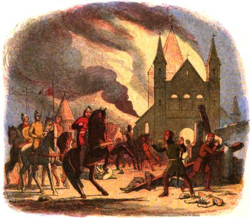 An image created in 1864 depicted William falling off his horse at Mantes, suffering mortal injuries.