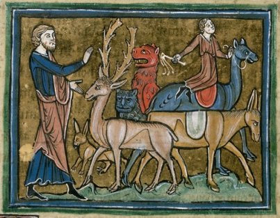 Medieval depiction of animals