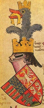 Coat of Arms of King Louis I of Hungary - a talisman of good luck.