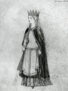 Modern portrait of Matilda kept at the National Portrait Gallery