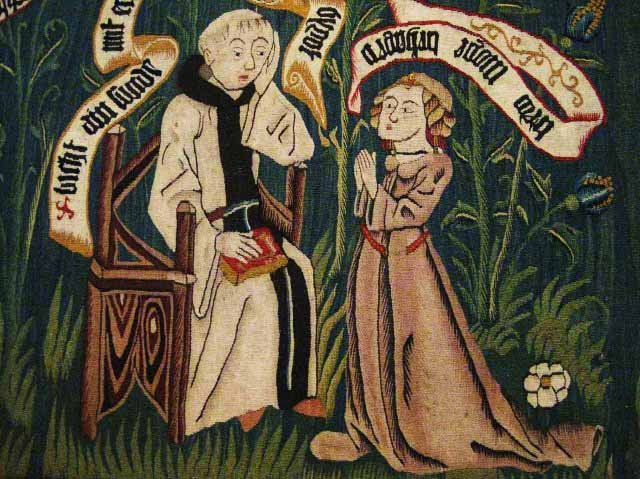 Image result for mediaeval priest giving absolution