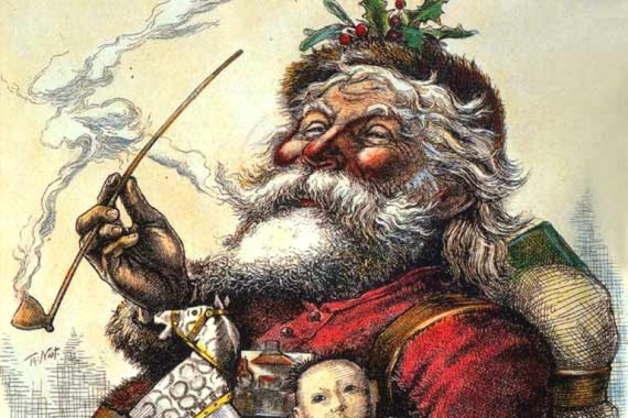 Portrait of Santa Claus, by Thomas Nast, Published in Harper's Weekly, 1881