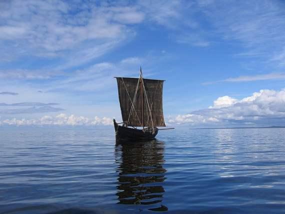 viking ship sail