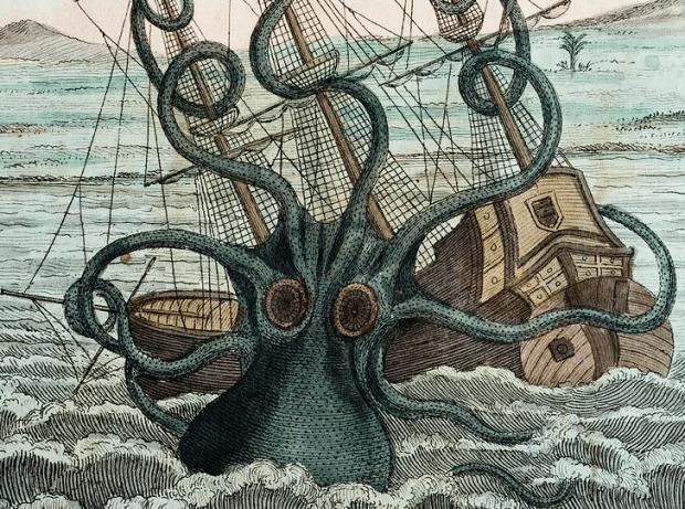 Kraken Octopus - Denys Montfort in Histoire naturelle, générale et particulière des mollusques: animaux sans vertèbres et a sang blanc