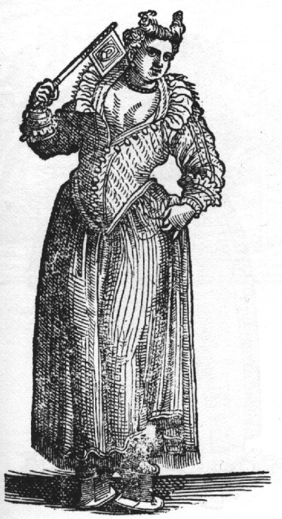 Vecellio - Venetian woman wearing pianelle/chopines