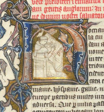 Bede - from BL Arundel 74   f. 2v