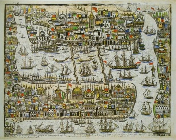 Konstantinos Kaldis - View of Constantinople - 1851