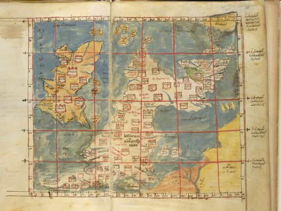 Map Of England 450 Ad.Medieval Maps Of Britain Medievalists Net