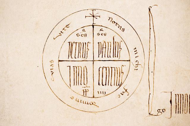 Papal monogram  rota