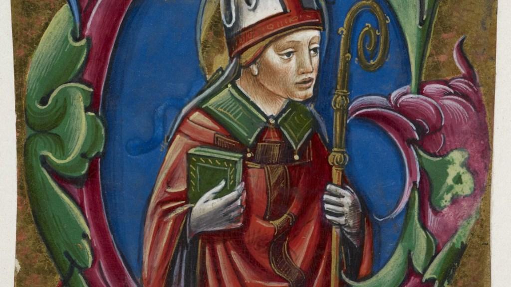Medieval Bishop - British Library Add. 39636, f. 50