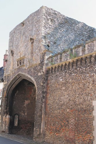 Entrance gate to Walsingham Abbey, Norfolk. Richard and Edward would have entered the abbey through this gateway on their visit in 1469.