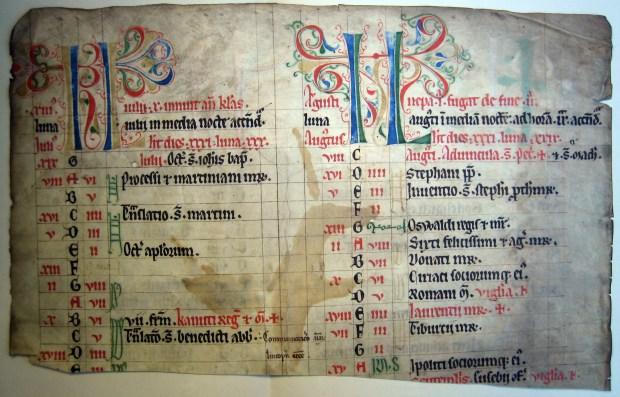 Parchment fragment of a medieval church book. Photo: Sara Ellis Nilsson/University of Gothenburg.
