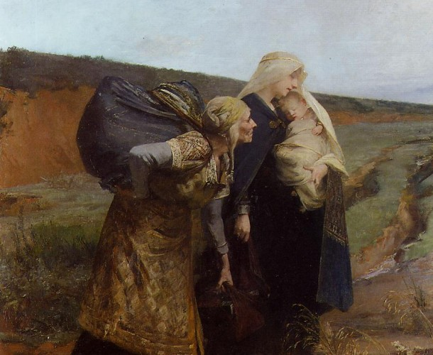 Painting of Audovera's repudiation by Albert Maignan.