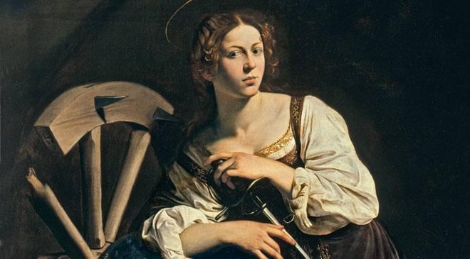 Caravaggio (1598) - Saint Catherine of Alexandria