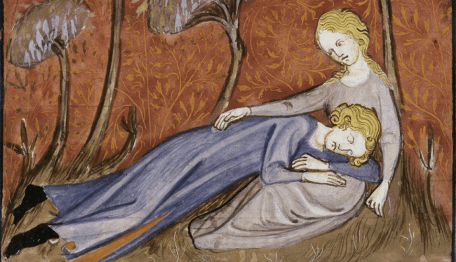 great tips middle ages - How to Sleep - image from British Library Royal 16 G VI f. 23