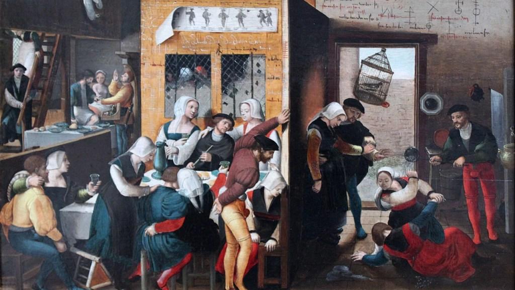 Brothel scene; Brunswick Monogrammist, 1537; Gemäldegalerie, Berlin