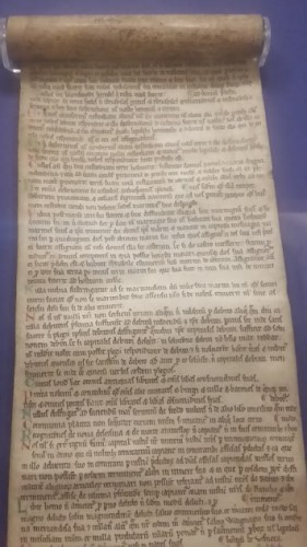 The Halesowen Scroll of Magna Carta. Photo by medievalists.net