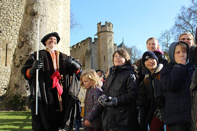 To pardon or to punish? Children enjoying live stopped interpretation at the Tower of London. Photo courtesy of Past Pleasures.