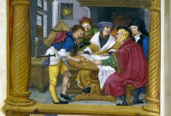 Playing Dice by Master Jean de Mauléon (c.1535)