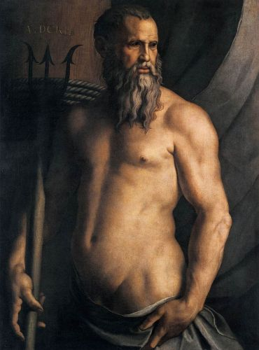 Portrait of Genoese legend, Andrea Doria as Neptune, by Angelo Bronzino (1550-1555). Photo courtesy of Wikipedia.