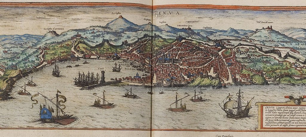 Genoa, 1572, Georg Braun; Frans Hogenberg - image courtesy of Wiki Commons.