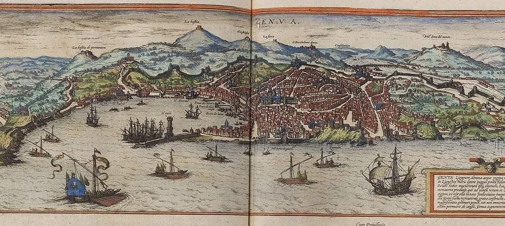 Genoa, 1572, Georg Braun; Frans Hogenberg - image courtesy of Wiki Commons.