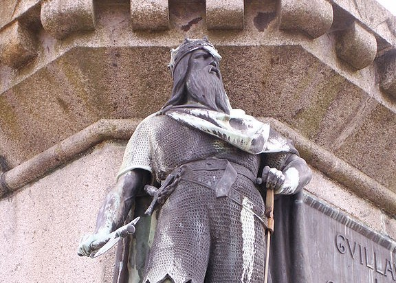 Statue of Rollo in Falaise - photo by Michael Shea
