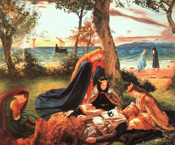 The Death of King Arthur by James Archer (1823–1904)