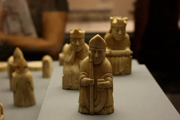 Lewis chessmen - photo by Sarah Ross, Flickr