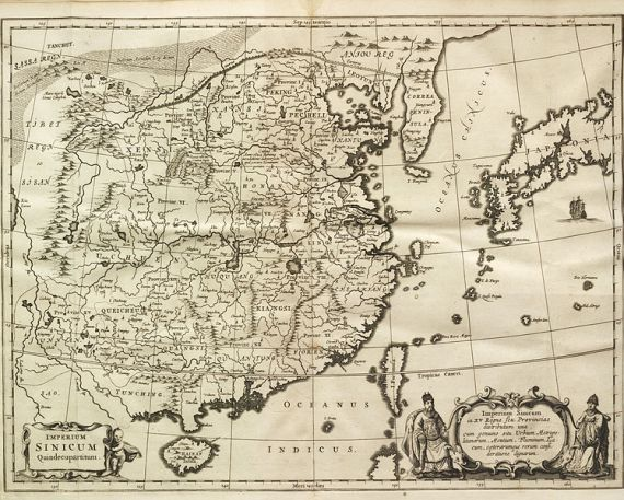 17th century Map of China