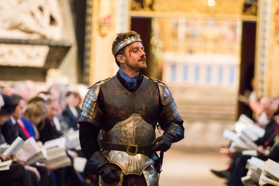 Sam Marks, from the cast of The Royal Shakespeare Company's production of Henry the Fifth, delivers THE SAINT CRISPIN'S DAY SPEECH. Dean & Chapter of Westminster.
