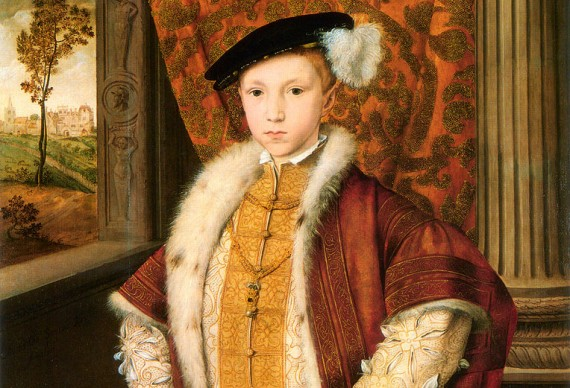 While the name Edward - including Edward VI (1537–1553) - was in the top 10, it was not in first place.