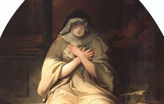 Raymond Monvoisin depiction of Heloise in the 19th century