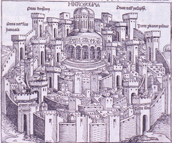Depiction of Jerusalem in the 15th century, by Hartmann Schedel