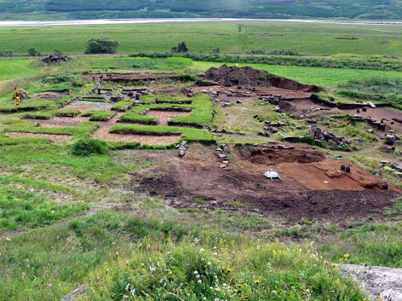 Excavation site of Skiðuklaustur in Iceland from the fifteenth century.  Photo by Christian Bickel / Wikimedia Commons