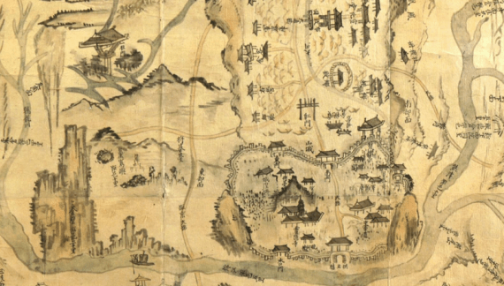 Map of Gongju area, part of Korea during the Joseon dynasty