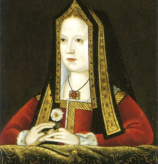 Portrait of Elizabeth of York, now at the National Portrait Gallery, London.